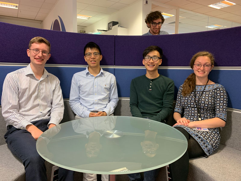 2019 interns visualise, build, automate, simulate, test and experiment