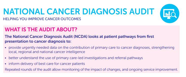 The National Cancer Diagnosis Audit